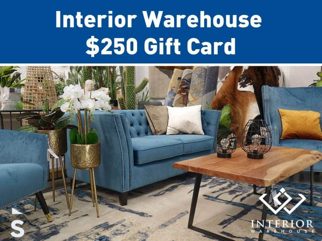 Win A $250 Interior Warehouse Gift Card